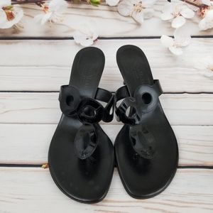 Cole Haan black patent leather sandals